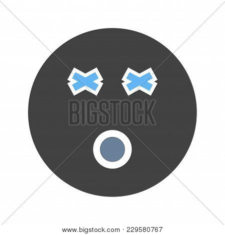 Dizzy, Dizziness, Head Icon Vector Image. Can Also Be Used For Emotions And Smileys. Suitable For Mo
