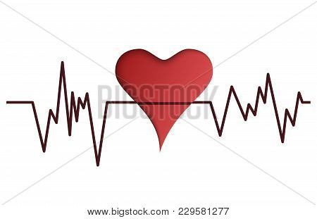 World Health Day Design. Vector World Health Day Design Concept. Cut Out Heart Illustration With Ste