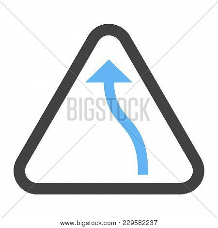 Sign, Traffic, Bend Icon Vector Image. Can Also Be Used For Traffic Signs. Suitable For Web Apps, Mo