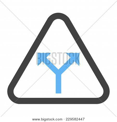 Sign, Road, Intersection Icon Vector Image. Can Also Be Used For Traffic Signs. Suitable For Web App