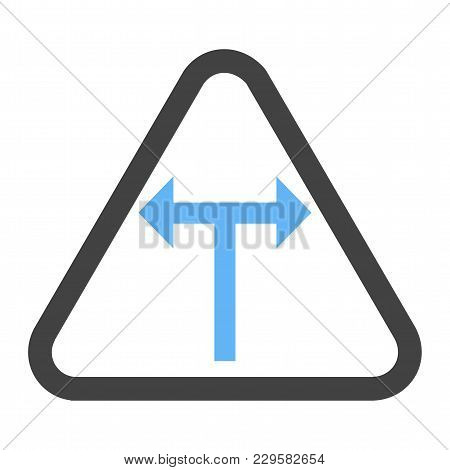 Sign, Intersection, Road Icon Vector Image. Can Also Be Used For Traffic Signs. Suitable For Web App