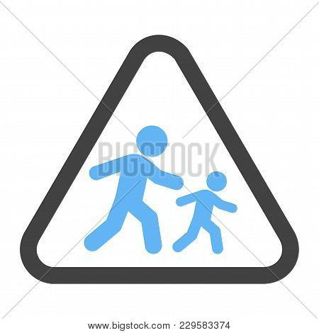 School, Sign, Crossing Icon Vector Image. Can Also Be Used For Traffic Signs. Suitable For Web Apps,