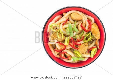 Udon Japanese Noodles With Red Chilli