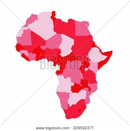 Africa Map Vector Illustration On White Background