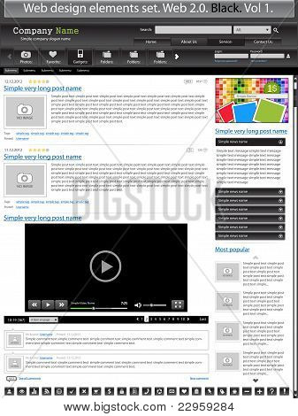 Web Design Elements Black 1.