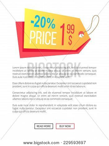 20 Off Price 1.99 Dollar Hanging Sticker Web Poster With Push Buttons Read More And Buy Now. Vector