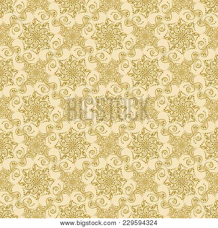 Islamic Pattern. Indian, Arabic, Ethnic, Oriental Motifs. Mandala Seamless Pattern. Bohemian Backgro