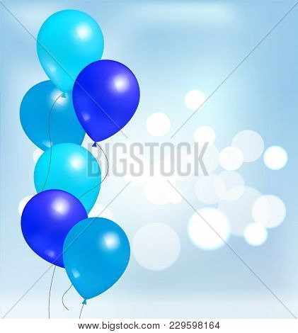 Glossy Shiny Balloons For Party Decorations, Birthdays And Anniversaries, Blue Rubber Balloon Inflat