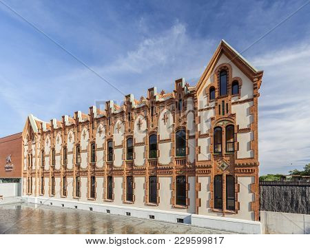 Barcelona,spain-october 7,2014: Cosmocaixa, Science Museum. The Building, Designed By Josep Domenech