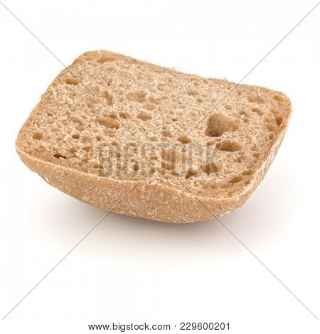 sliced Ciabatta bread isolated on white background cut out