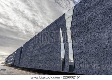 Barcelona,spain-november 21,2013: Modern Architecture, Forum Building- Museu Blau, Museum, Designed