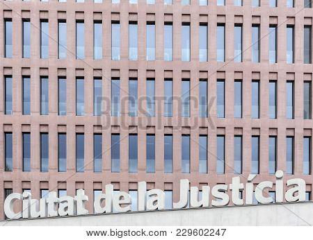 Barcelona,spain-november 10,2013: Modern Architecture, Ciutat De La Justicia De Barcelona I Hospital