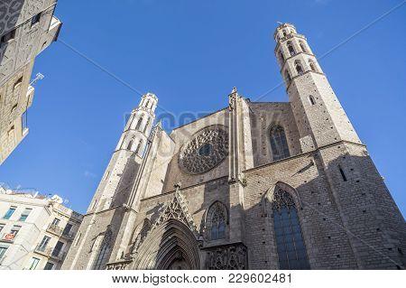 Architecture, Religious Building, Church, Iglesia De Santa Maria Del Mar, Gothic Style, Barcelona.