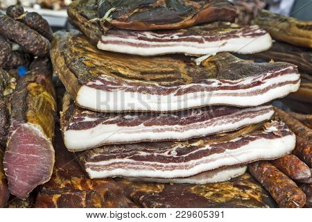 Bacon, Ham And Sausages On Sale