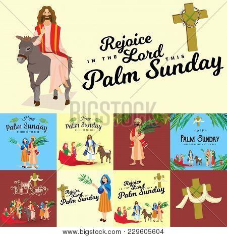 Religion Holiday Palm Sunday Before Easter, Celebration Of The Entrance Of Jesus Into Jerusalem, Hap