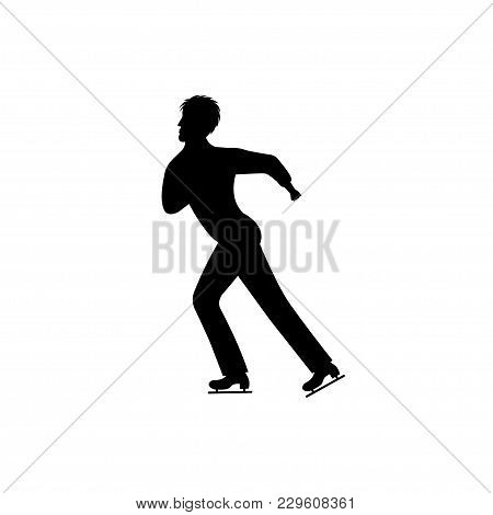 Men's Figure Skating. Isolated Icon