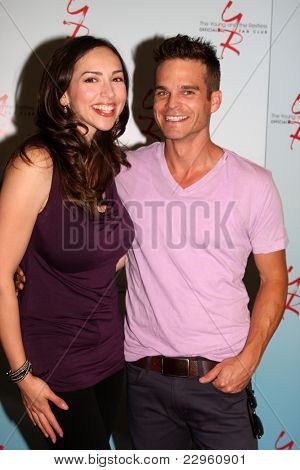 LOS ANGELES - AUG 26:  Greg Rikaart, Eden Riegel attending the Young & Restless Fan Dinner 2011 at the Universal Sheraton Hotel on August 26, 2011 in Los Angeles, CA