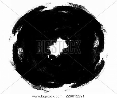 black abstract drawings from the spot fingerprint