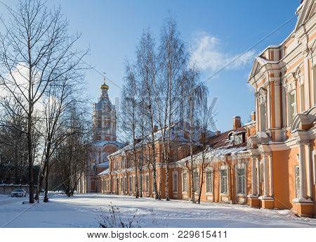 Alexander Nevsky Lavra In Winter Sunny Day