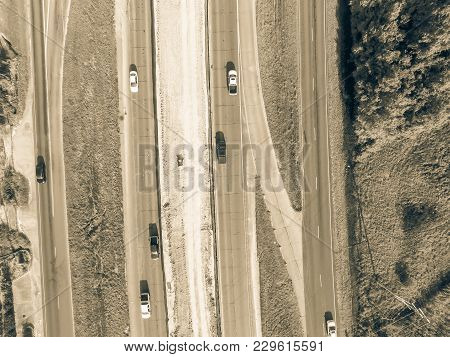 Aerial Construction Of Highway Interstate 10 (i10) Overpass