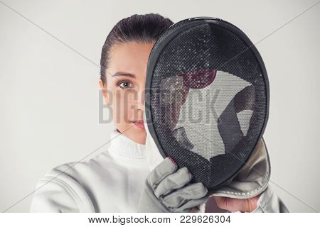 Beautiful Female Fencer