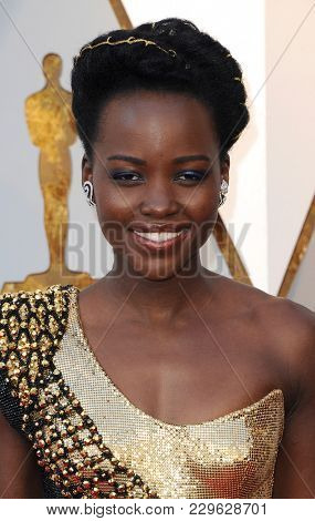 Lupita Nyong'o at the 90th Annual Academy Awards held at the Dolby Theatre in Hollywood, USA on March 4, 2018.