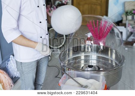 Machine For Making Cotton Candy.