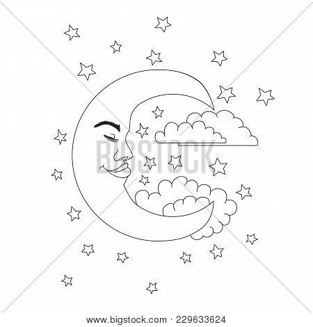 Vintage Circus Illustrations Collection. Moon And Star Night