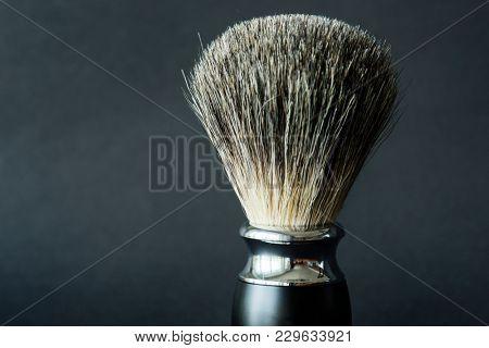 Closeup of shaving brush