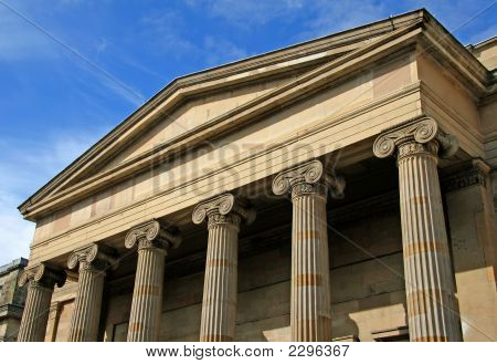 Colonnade With Pillars And Scrolls