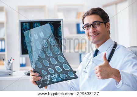 Doctor Radiologist Looking X Ray Image Photo Bigstock