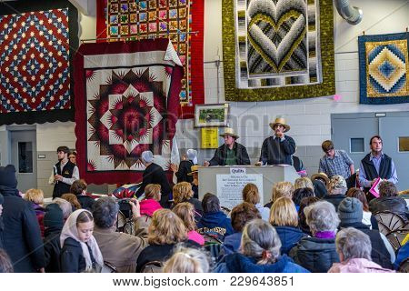 Selling Quilts At Bart Mud Sale