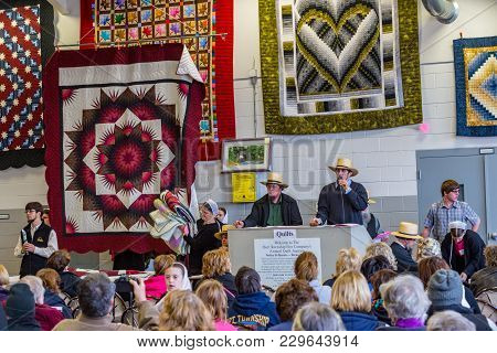 Selling Quilts At Mud Sale