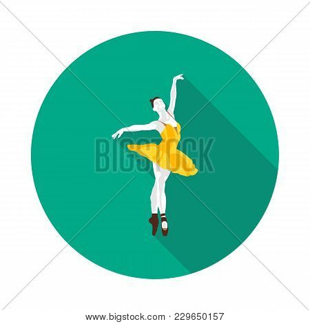 Cool Flat Ballerina Icon In Vector Format