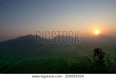 Sunrise In Phu-thok At Loei Province The Northeast Of Thailand