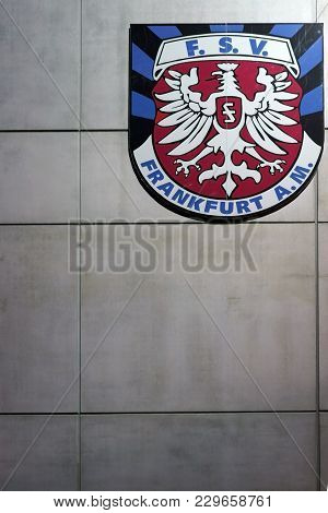Frankfurt, Germany - March 02: The Coat Of Arms Of The 1899 Frankfurt Sport Sports Club, Fsv Frankfu