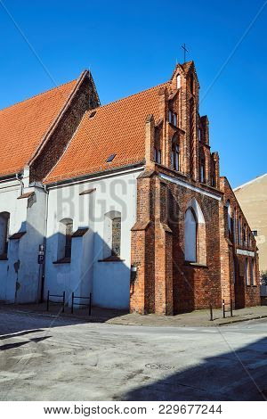 Fragment Of  The Medieval Gothic Church In Poznan