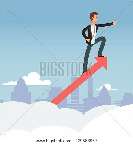 Starting Business Vector Growth Concept. New Opportunity And Business Vision Background. Business Gr