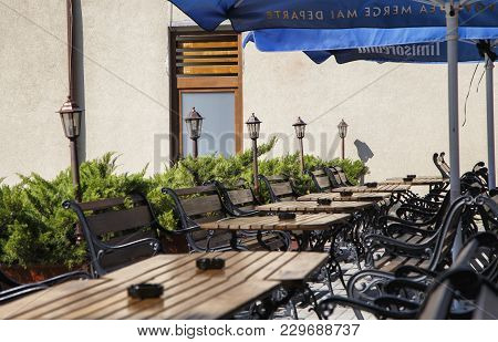 Timisoara, Romania - September 08, 2017:  Rustic Brewery Located In Central Zone On September 08, 20