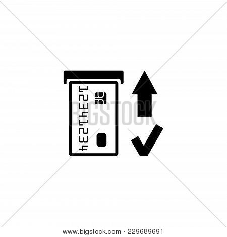 Insert Credit Card. Shopping. Bank Atm Vector Icon. Simple Flat Symbol On White Background