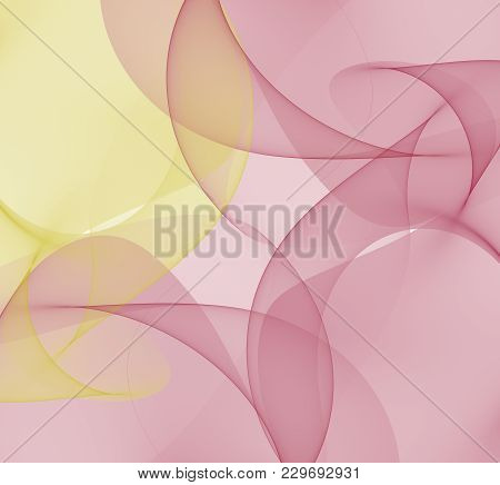 Bright Abstract Fractal Red And Yellow Veil Of Fantasy, Fractal Waves Fantasy