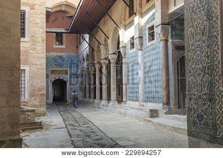 Istambul, Turkey - September 11, 2017: This Is Yard Of The Black Eunuchs In The Harem Of The Topkapi