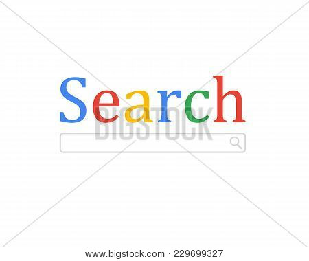 Searching Concept. Modern Technologies. Vector Illustration Flat Design. Isolated On White Backgroun