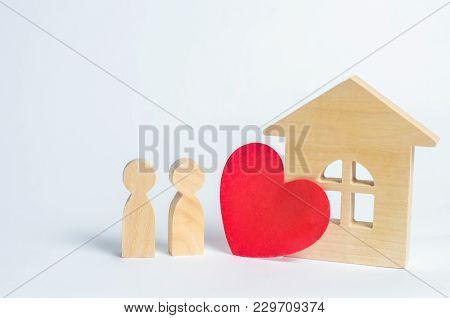Family And Home Love Concept. House Of Lovers. Affordable Housing For Young Families. Accommodation