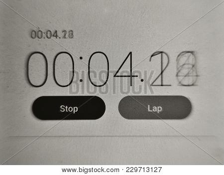 Stopwatch Digital Countdown , Modern Digital Technologies , Electronic Dial