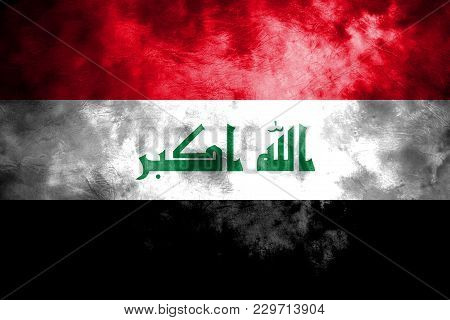 Old Iraq Grunge Background Flag, Vintage Flag