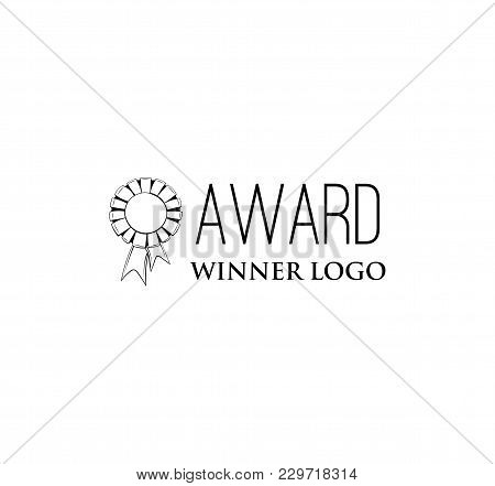 Medal Icon. Sport And Champion Element. Medal With Ribbons. Trophy, Reward. Vector Illustration Isol