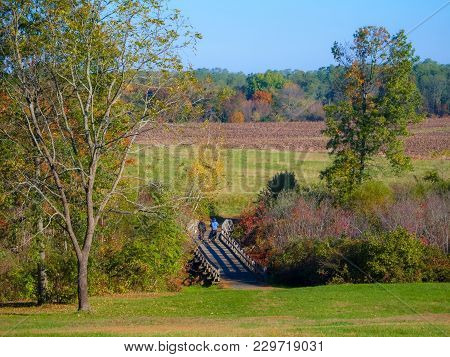 A Scenic View Of Monmouth Battlefield State Park In Freehold New Jersey.