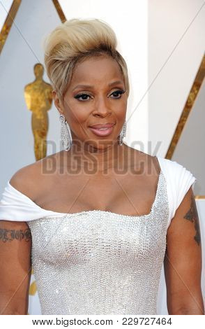 Mary J. Blige at the 90th Annual Academy Awards held at the Dolby Theatre in Hollywood, USA on March 4, 2018.