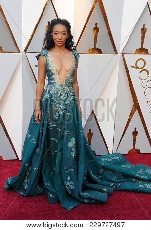 Betty Gabriel at the 90th Annual Academy Awards held at the Dolby Theatre in Hollywood, USA on March 4, 2018.